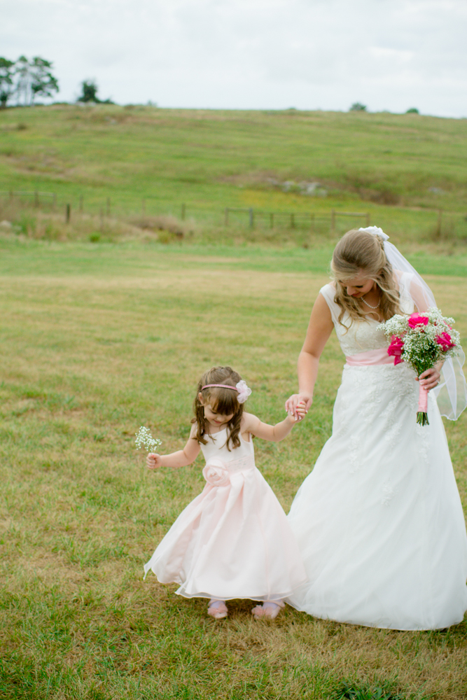 Bride and flower girl | Lorin Marie Photography