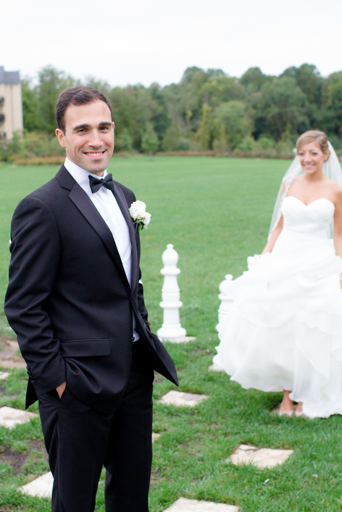 Chess board wedding photo | Salamander Resort wedding | Lorin Marie Photography