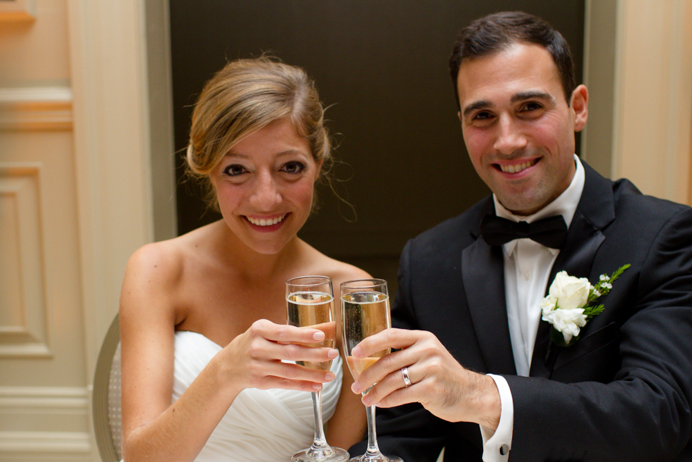 Bride and groom toast | Lorin Marie Photography