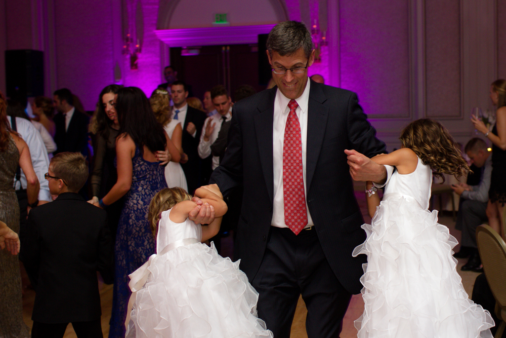 Family dancing at wedding reception | Lorin Marie Photography
