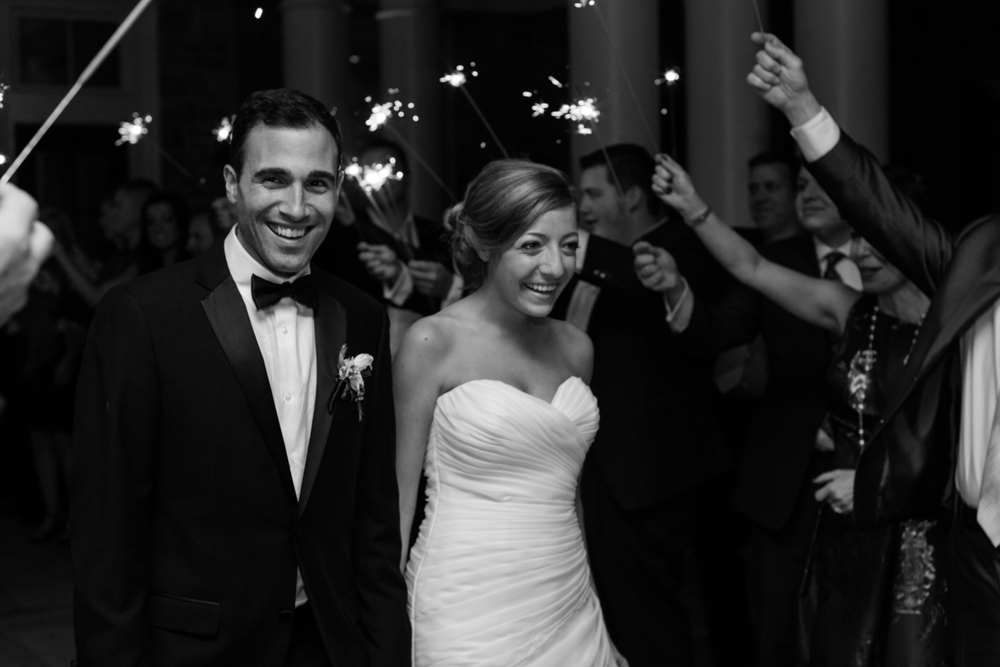 Wedding sparkler exit | Lorin Marie Photography