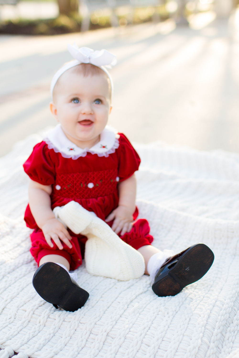 Baby's-first-Christmas-photo