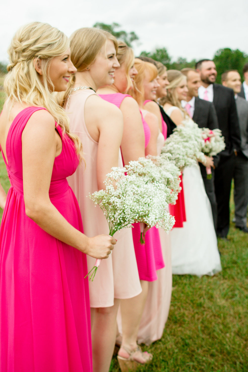 Pink bridal party dresses | Lorin Marie Photography