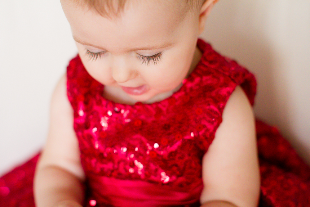 Baby Valentine's Day Dress | Lorin Marie Photography