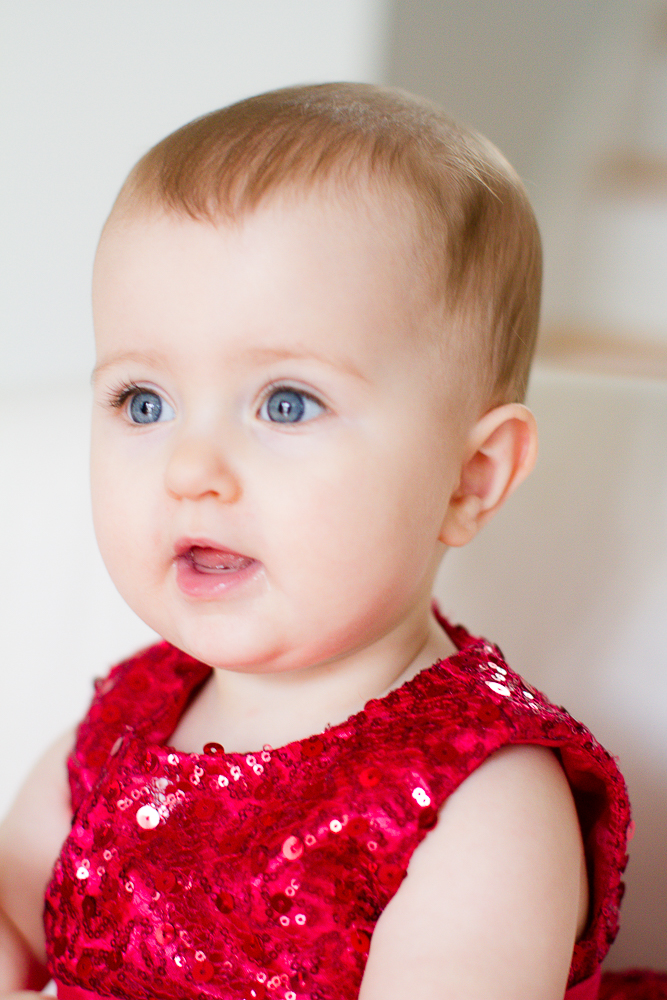 Cute red Valentine's Day dress for a baby | Lorin Marie Photography