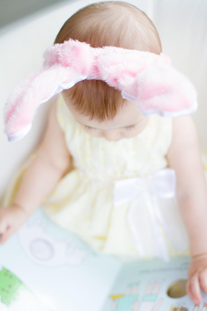 Baby pink bunny ears