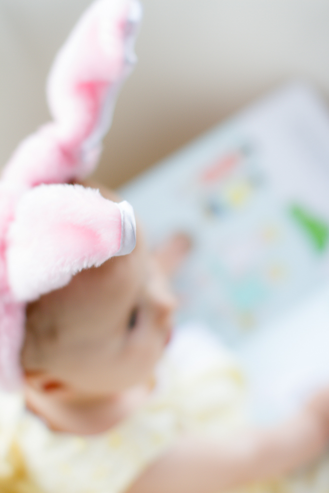 Infant bunny ears