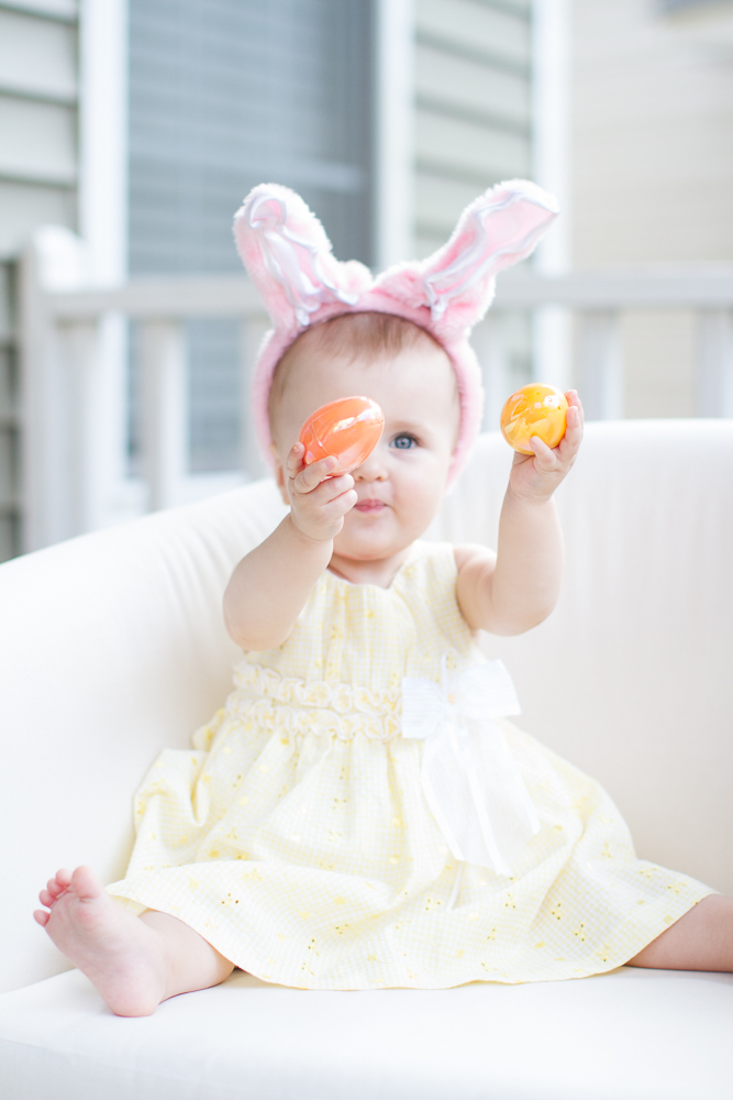 Baby first Easter photos