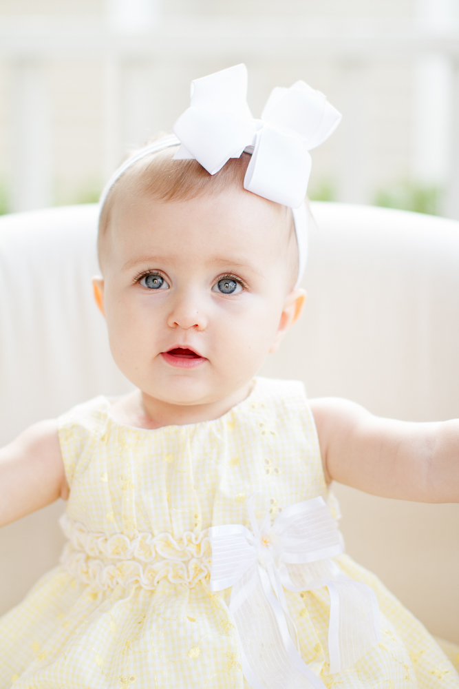 Yellow baby Easter dress
