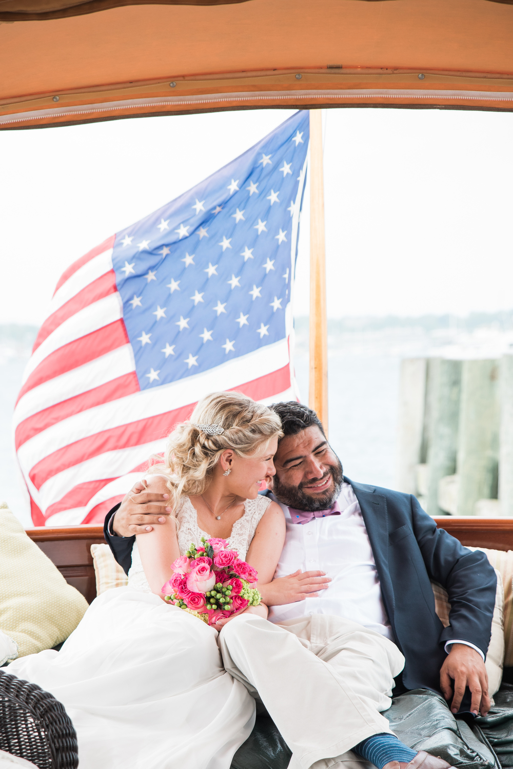 Newport yacht wedding photography