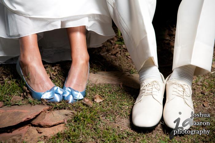 bride and groom feet wedding photo