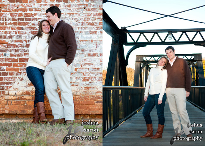 engagement photos at the Riverfront Park downtown columbia sc