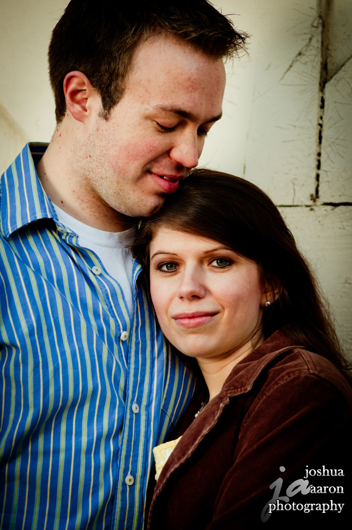 Tabitha and Jordan hugging engagement photo 2