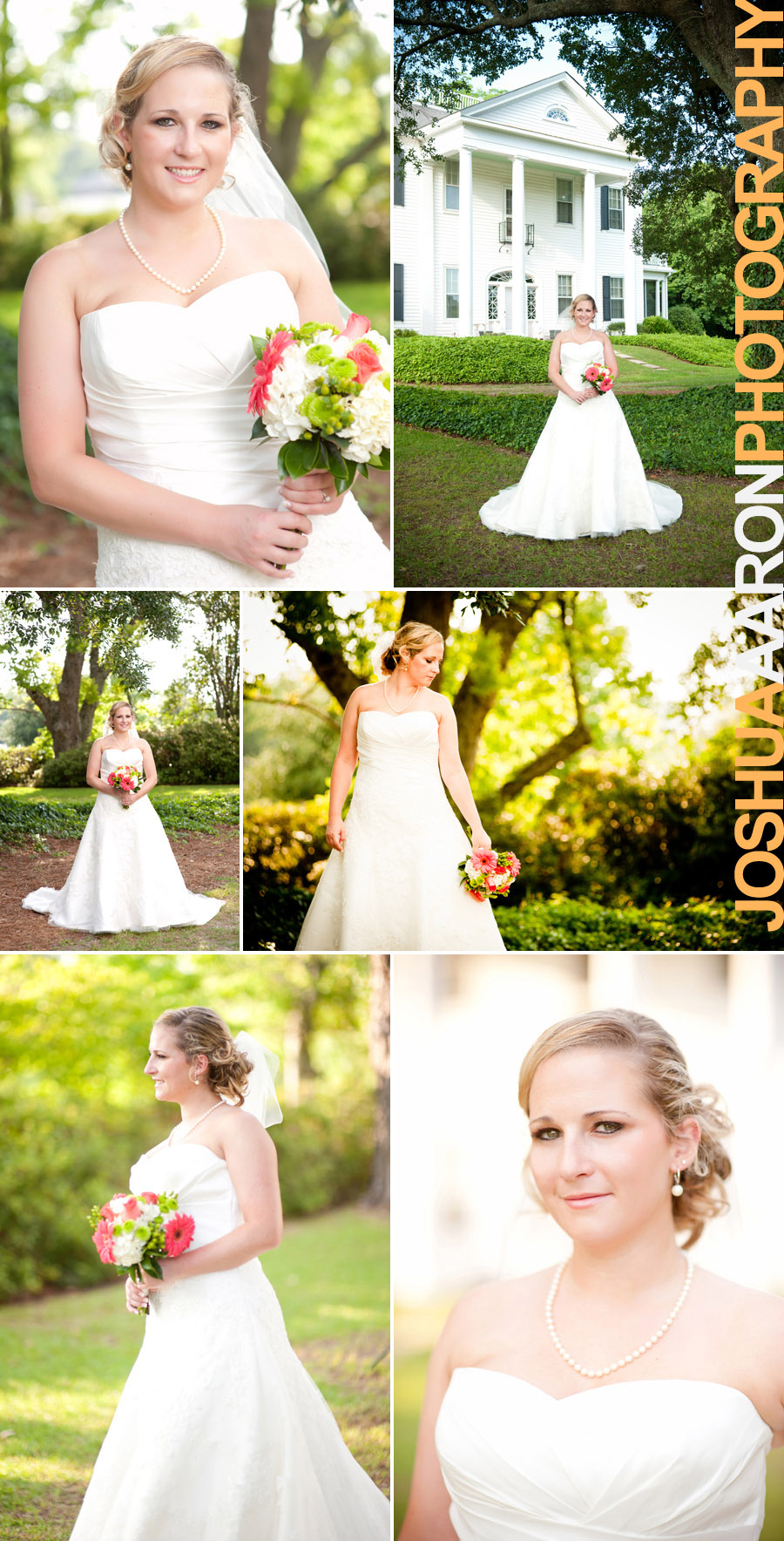 Outdoor bridal portrait in Manning South Carolina