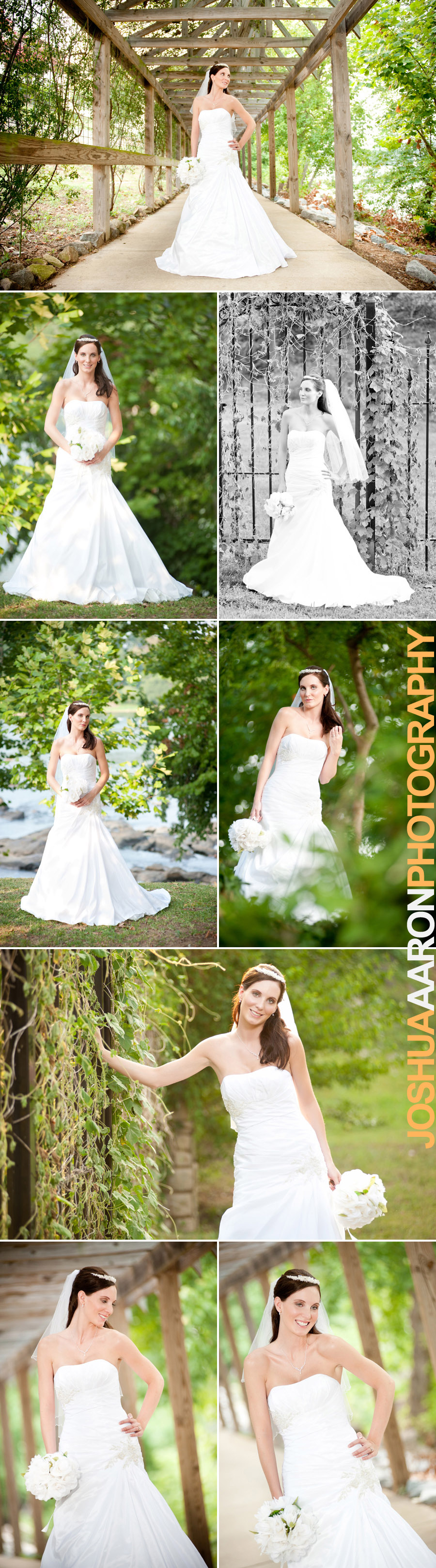 Bridal portraits at the Columbia Riverwalk