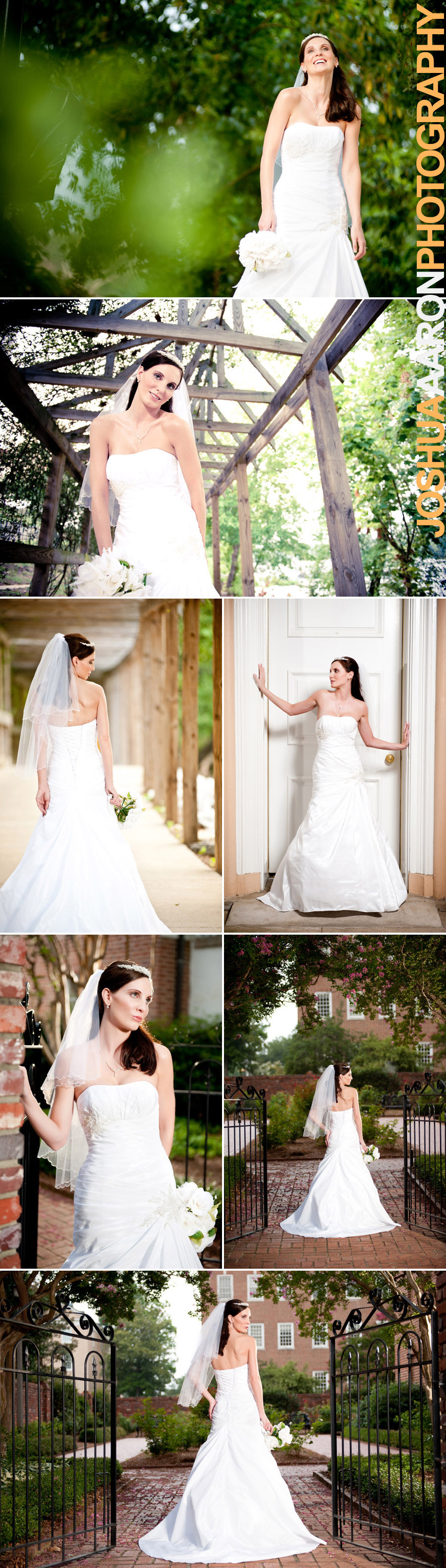 Bridal portraits at the USC horseshoe