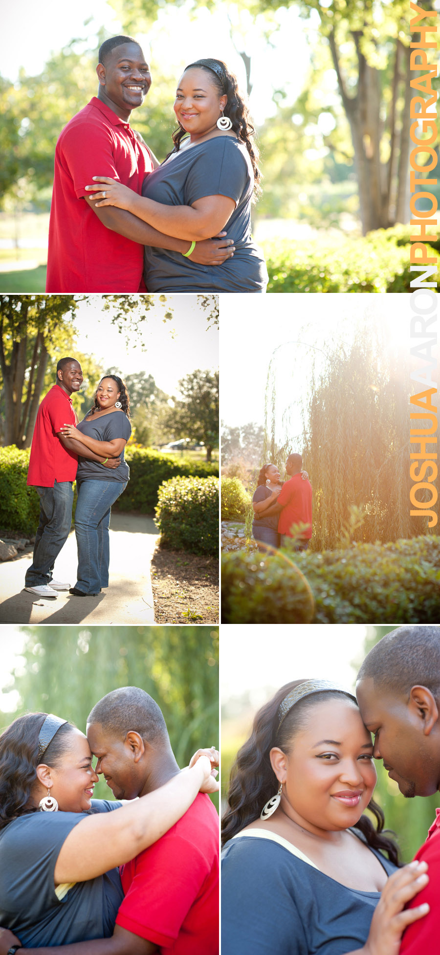Engagment photos at the Riverfront Park
