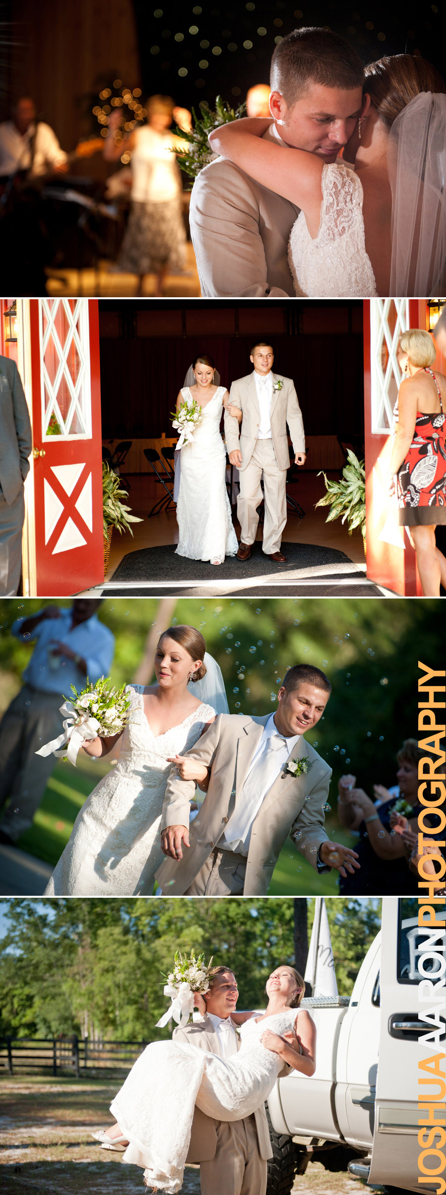 Wedding and Reception in Leesville, SC at T&S Farm