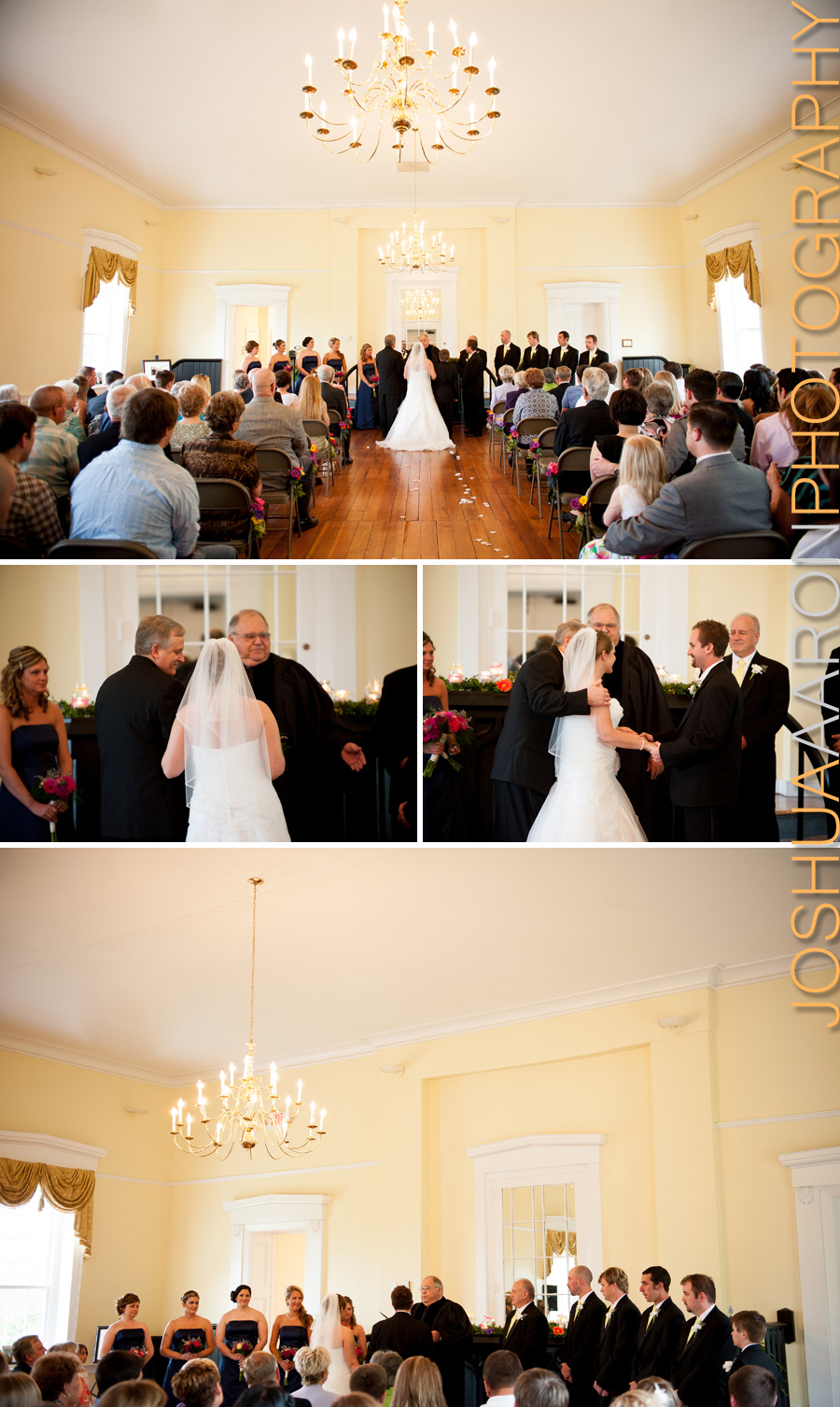 Emily and Joey wedding at Robert Mills Courthouse
