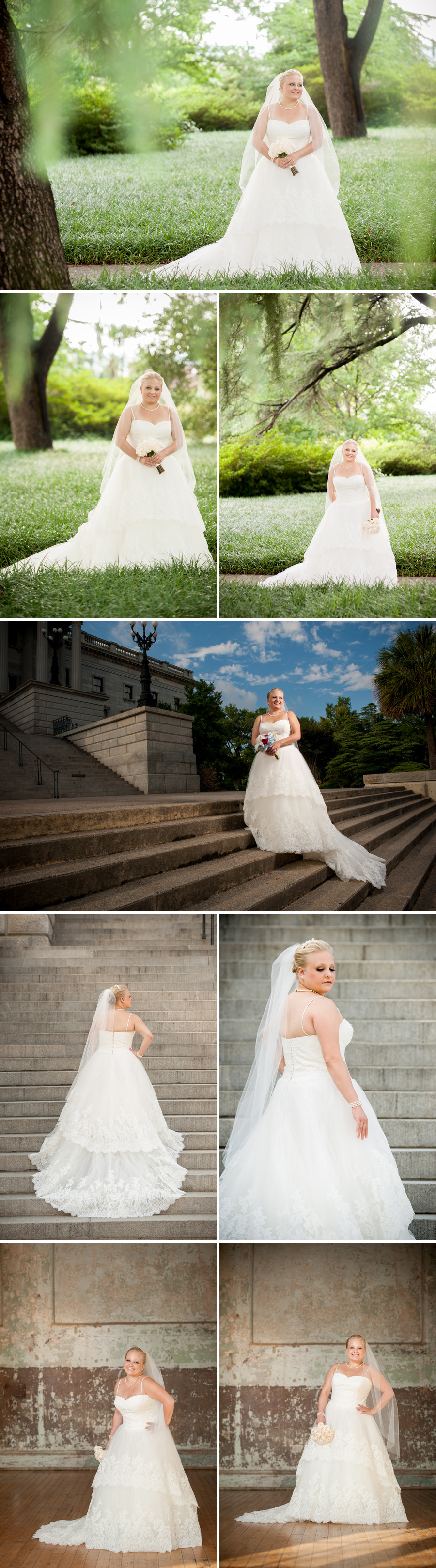 Bess Bridal Portraits South Carolina State House