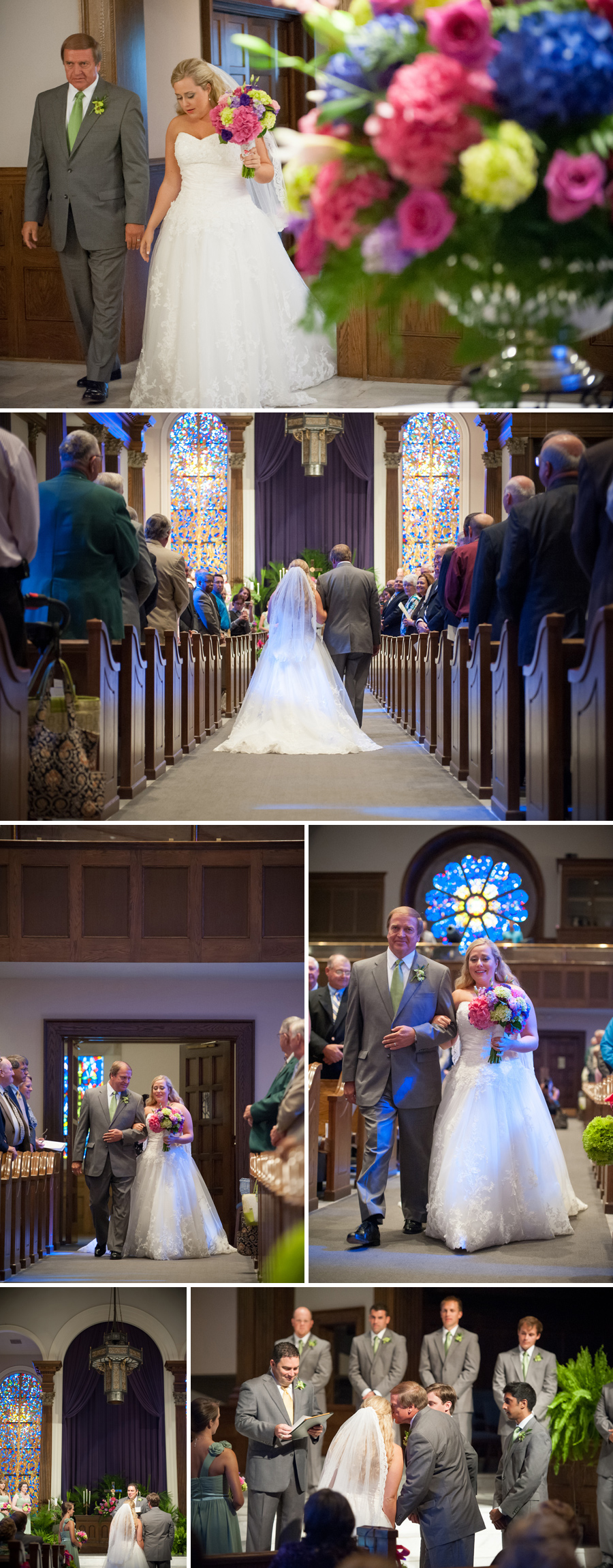 Tricia and Greg wedding at First Baptist Sumter, SC