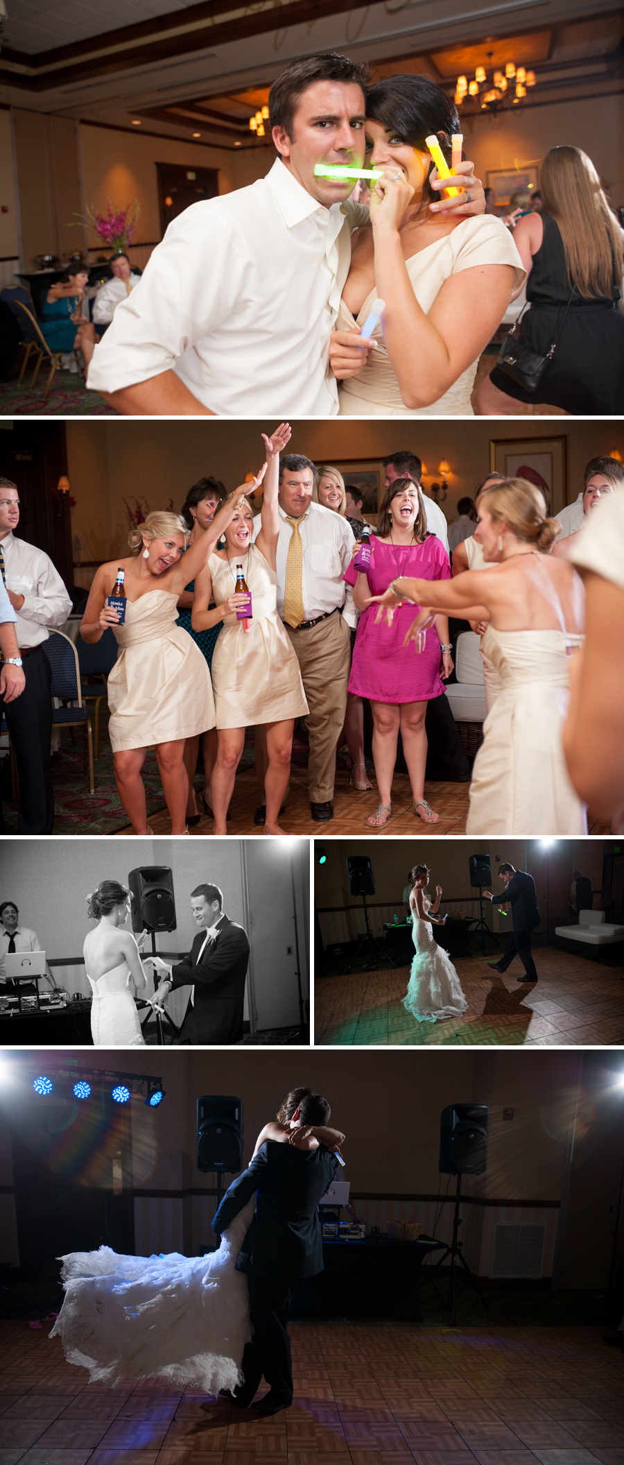 Monica and Adam Wedding Reception in downtown Charleston