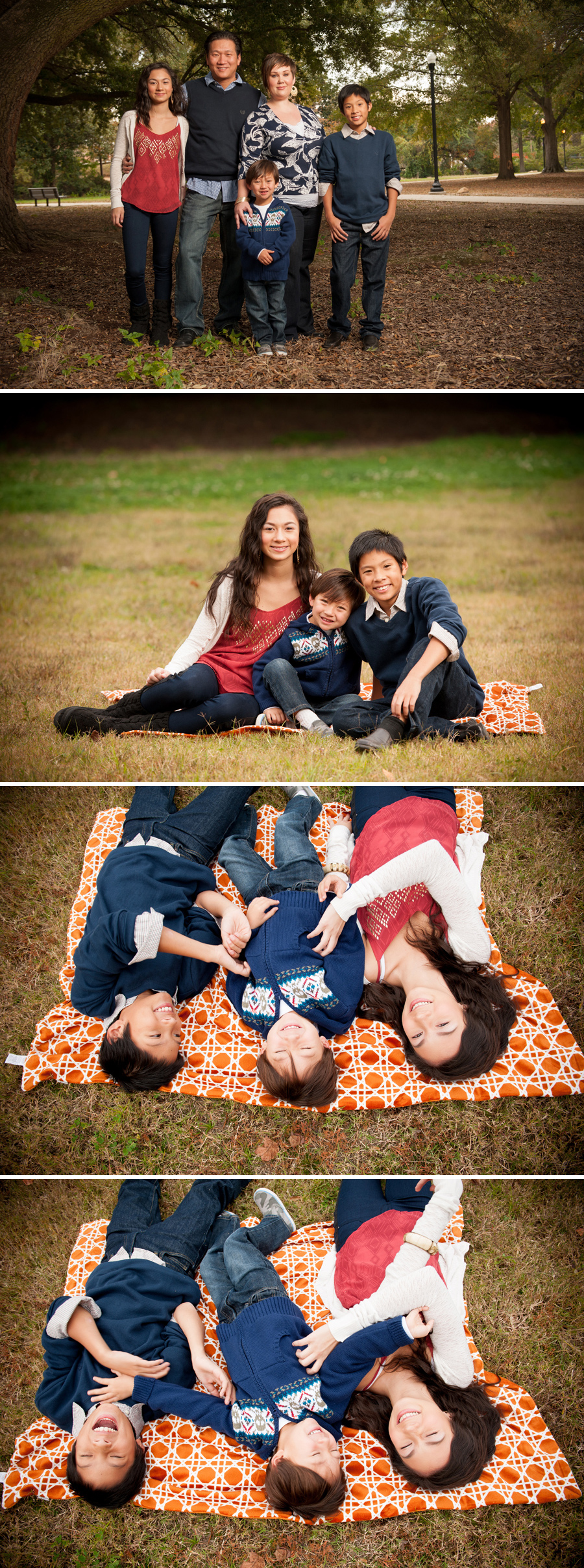 tran family session Maxcy Gregg Park