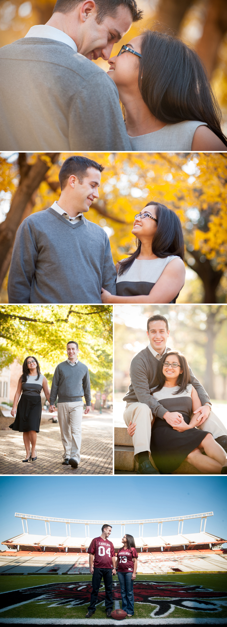 Liz and TK engagements at Williams Brice Stadium