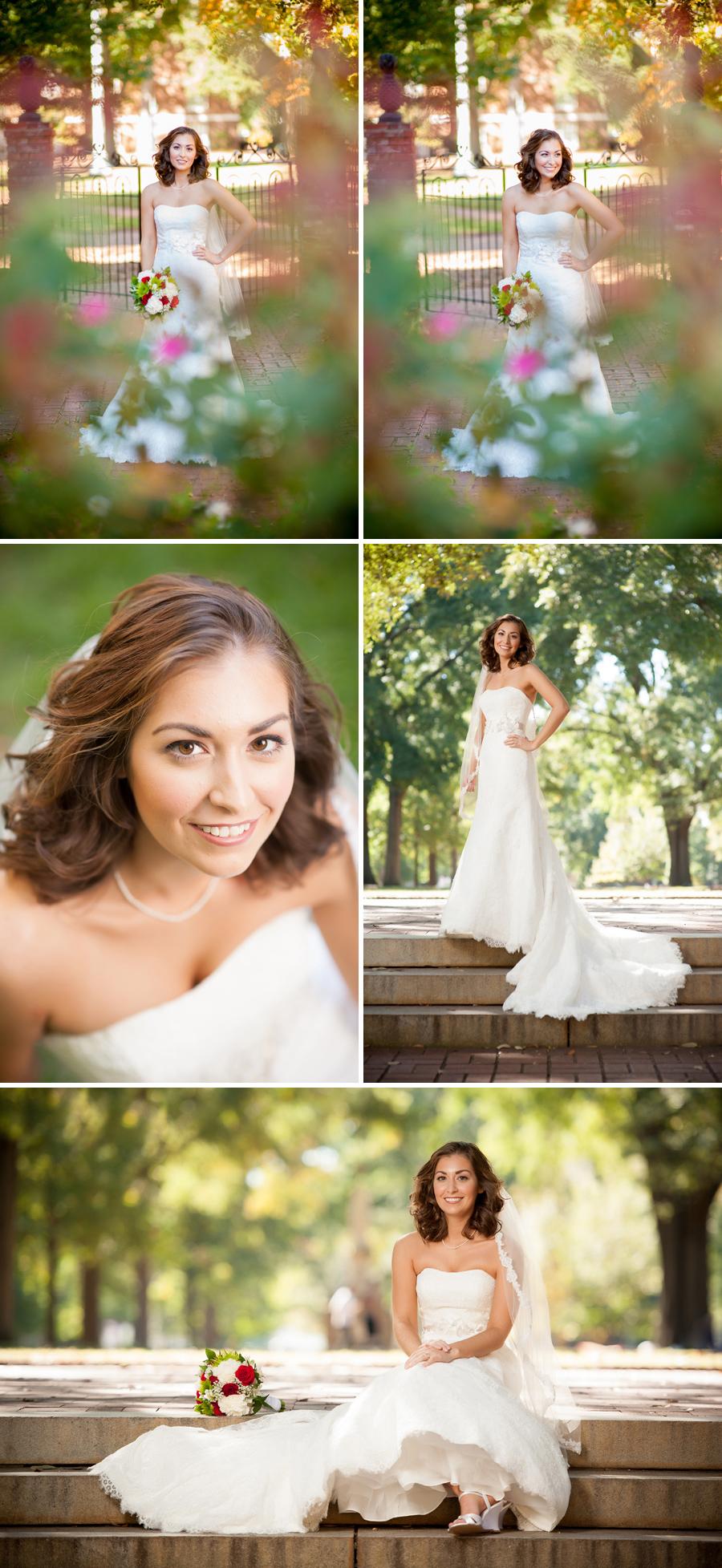 Amanda bridal portrait USC Horseshoe