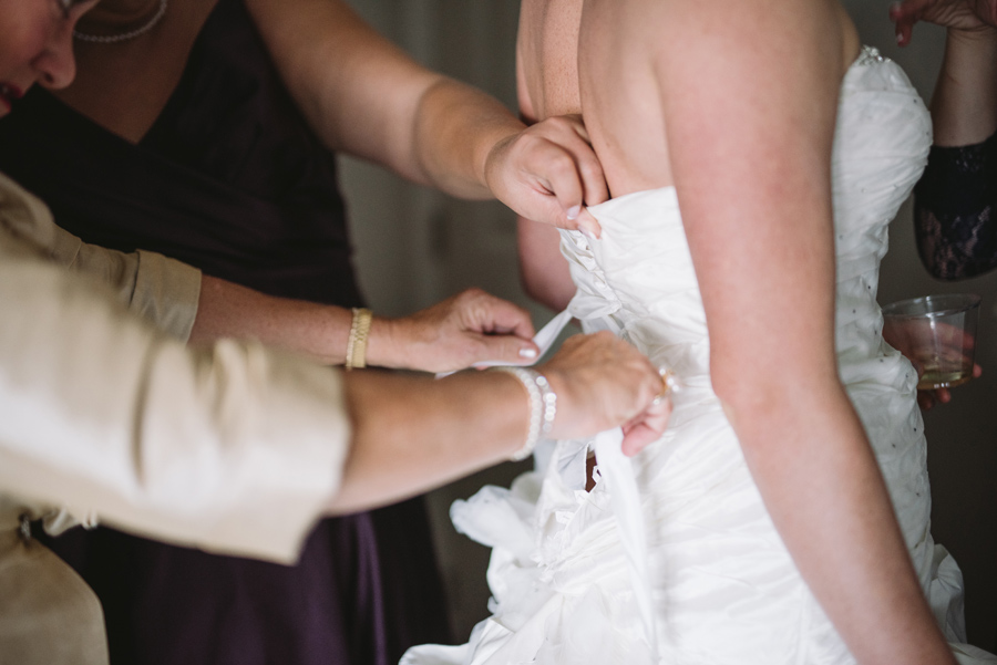 bride lacing dress