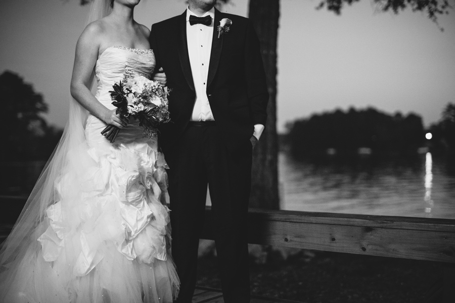 classic bride and groom black and white