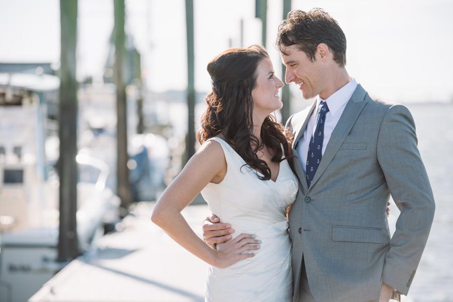 bride groom hilton head dock