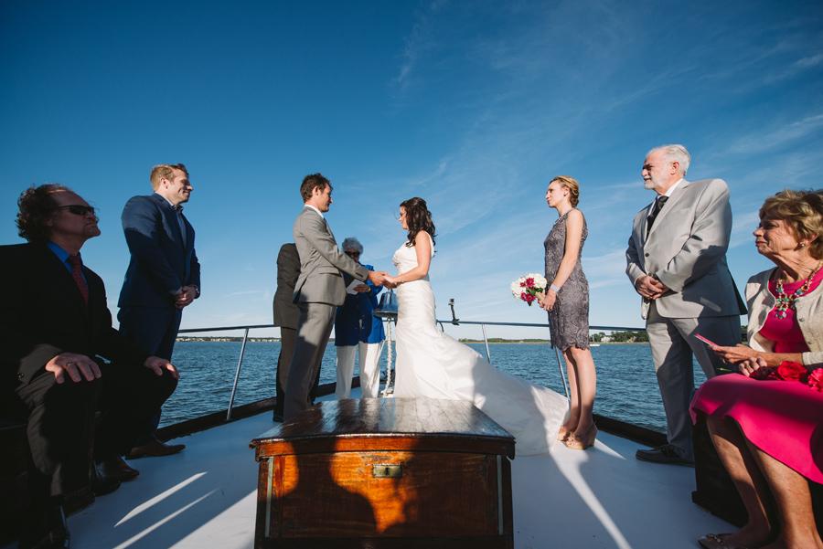 hilton head wedding on a boat
