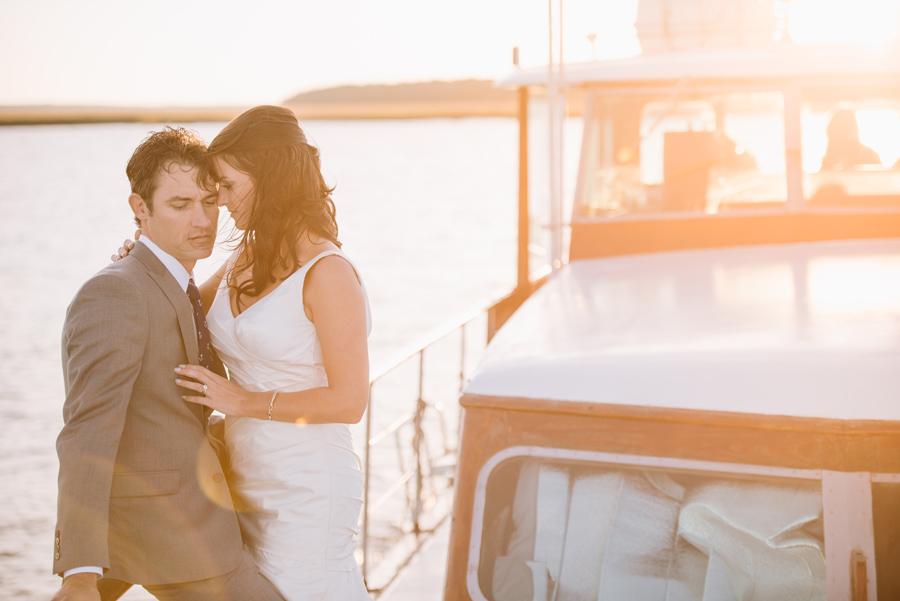 golden hour wedding portraits