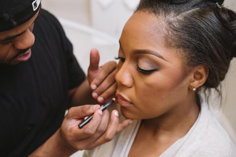 bride makeup details