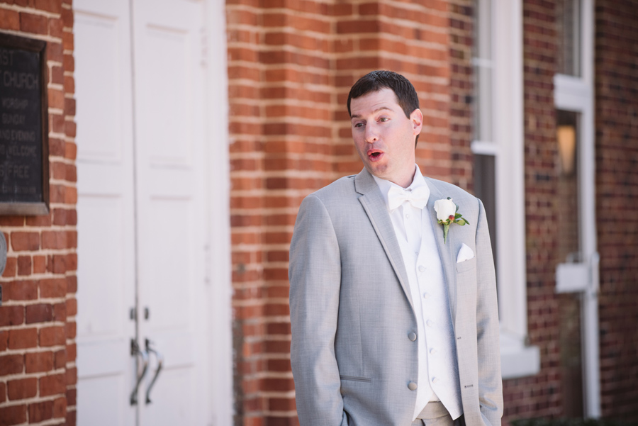 first look surprise groom