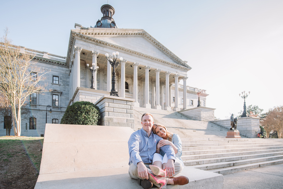 cute state house engagement