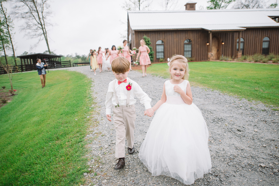 cute ringbearer and flower girl