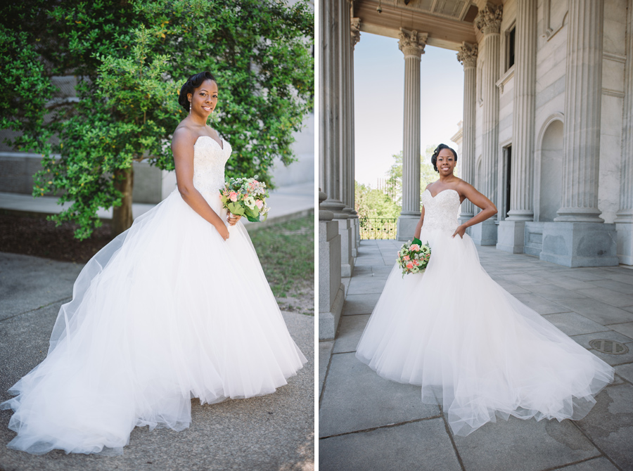 stunning bride tulle dress