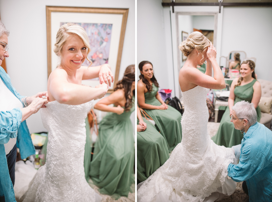 bride getting ready stone river