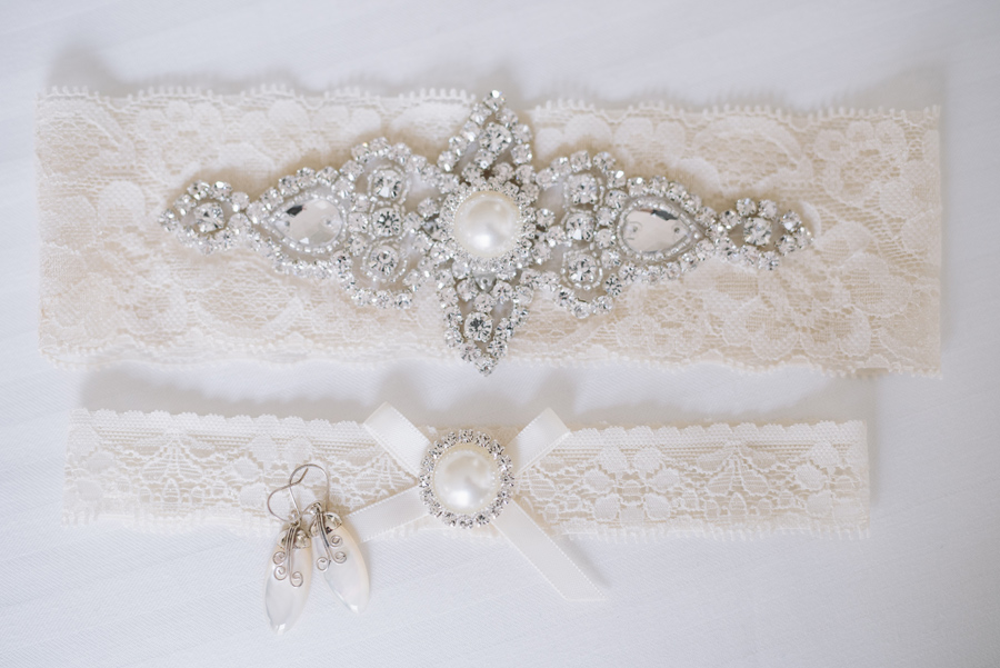 custom lace garters bride details