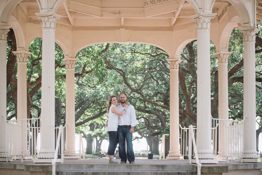 battery and white point gardens engagement session