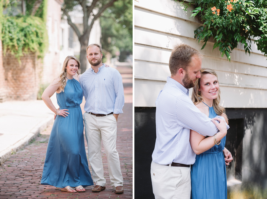 charleston engagement session rainbow row