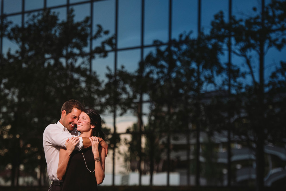 blue hour engagement session