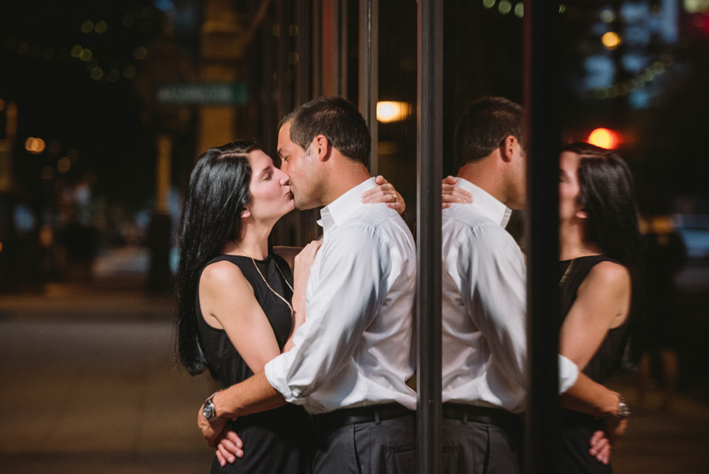 downtown nighttime engagements