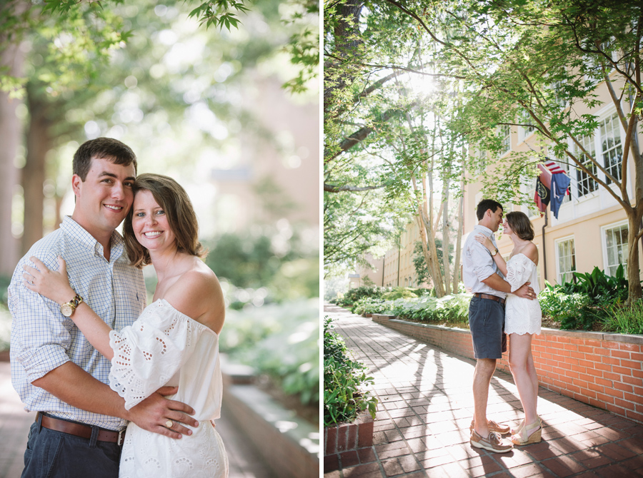 sunny engagement session