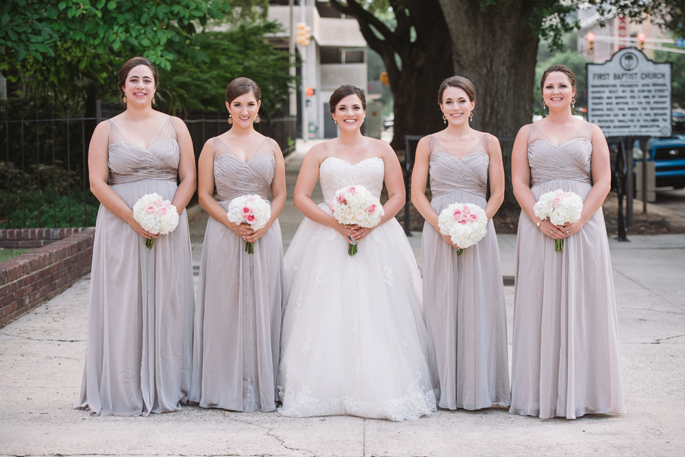bridal party dove gray dresses