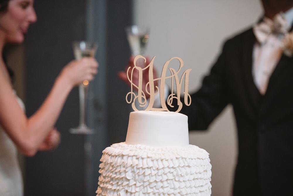 wedding cake topper monogram