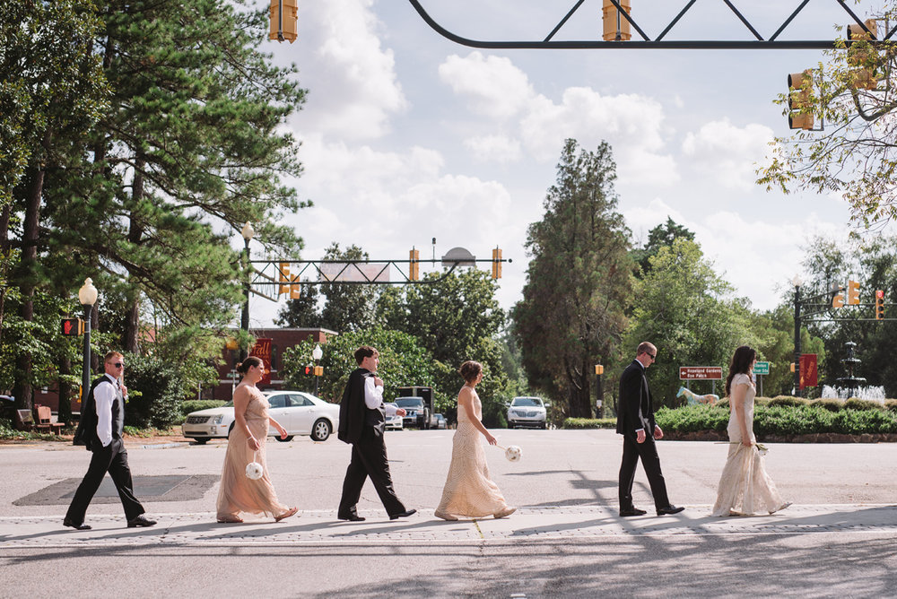 wedding party downtown aiken