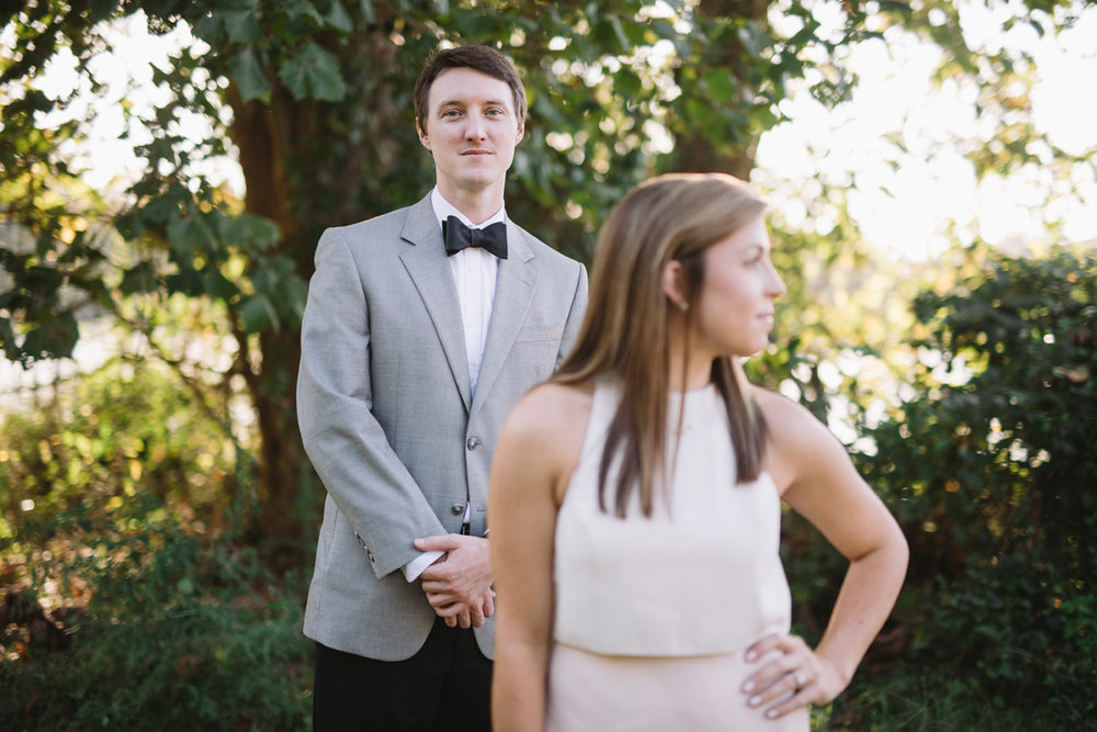 suit and tie engagement session